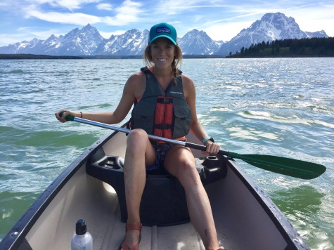 Canoeing on Jackson Lake in Grand Teton National Park.